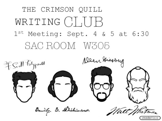 Advertisement for the writing club! PR
